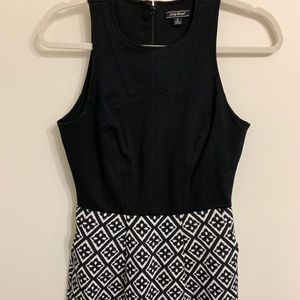 Black and Pattern Dress